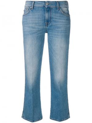 Cropped flared jeans 7 For All Mankind. Цвет: синий