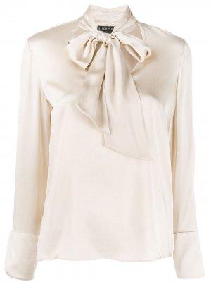 Блузка с завязкой Alice+Olivia. Цвет: нейтральные цвета
