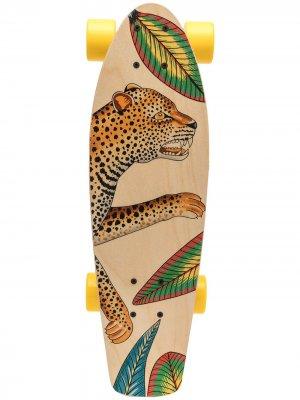 Скейтборд pre-owned с принтом Hermès. Цвет: нейтральные цвета