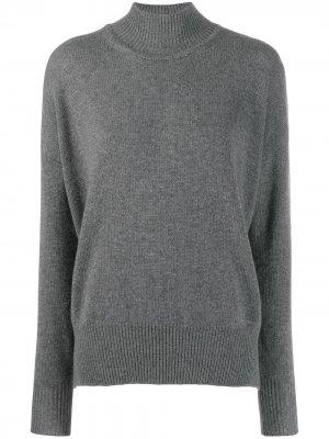 Кашемировый свитер с высоким воротником Jil Sander. Цвет: серый