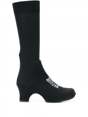 Ботильоны-носки с логотипом Comme Des Garçons. Цвет: черный
