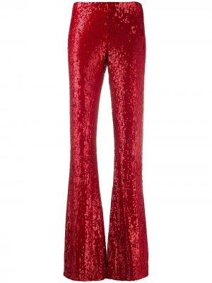 Расклешенные брюки с пайетками P.A.R.O.S.H.. Цвет: красный