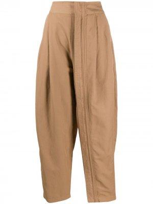 Зауженные брюки с молнией Stella McCartney. Цвет: коричневый