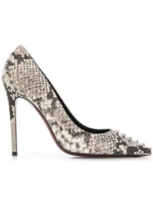 Туфли-лодочки с заклепками Deimille. Цвет: серый
