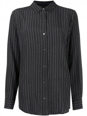 Рубашка в тонкую полоску с длинными рукавами Equipment. Цвет: черный