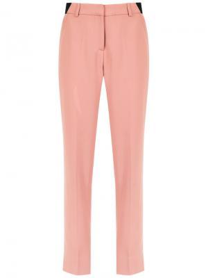 Прямые брюки Egrey. Цвет: розовый