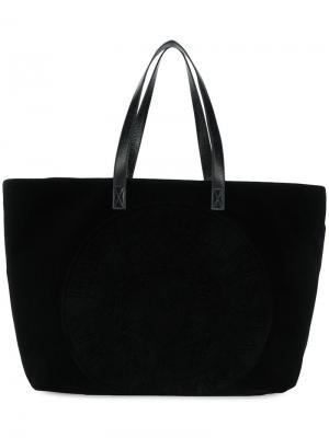 Velvet shopper bag Balmain. Цвет: черный