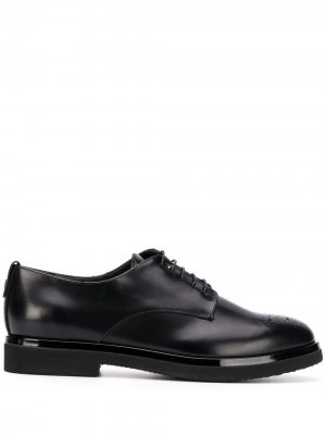 Броги с закругленным носком и шнуровкой AGL. Цвет: черный