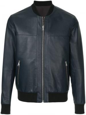 Двухсторонняя куртка-бомбер Ck Calvin Klein. Цвет: синий