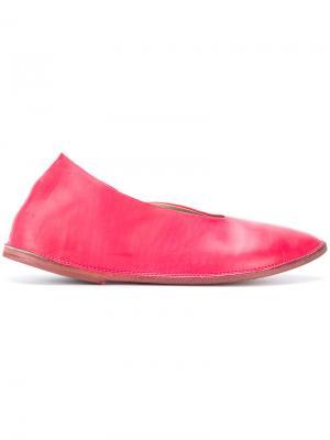 Балетки с заостренным носком Marsèll. Цвет: розовый
