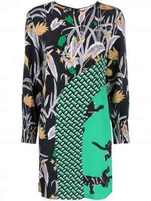 Платье Bali с принтом DVF Diane von Furstenberg. Цвет: черный