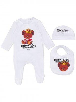 Комплект для новорожденного с принтом Philipp Plein Junior. Цвет: белый