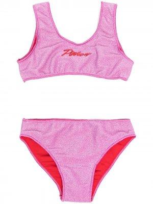 Бикини с люрексом Pinko Kids. Цвет: розовый
