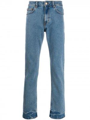Джинсы прямого кроя с карманами Versace Jeans Couture. Цвет: синий