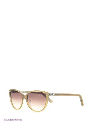 Солнцезащитные очки SK 0077-F 57F Swarovski. Цвет: бежевый