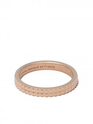 Кольцо 5g Guilloche из розового золота Le Gramme. Цвет: красный
