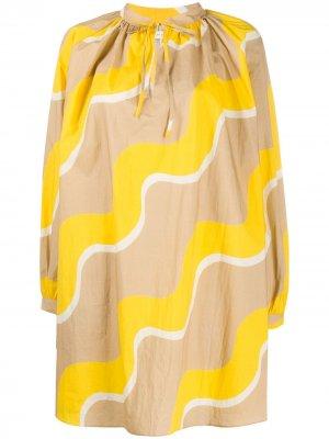 Платье с принтом и завязкой Chinti and Parker. Цвет: нейтральные цвета