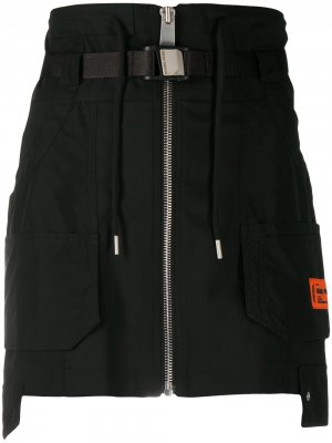 Юбка мини с карманами карго Heron Preston. Цвет: черный