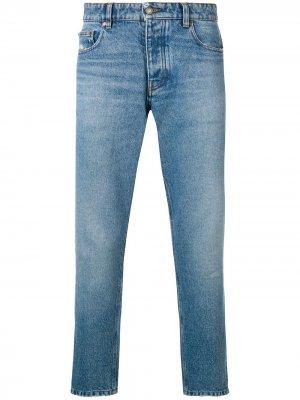 Зауженные джинсы с пятью карманами AMI Paris. Цвет: синий