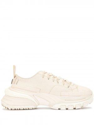 Кроссовки со вставками Wooyoungmi. Цвет: белый
