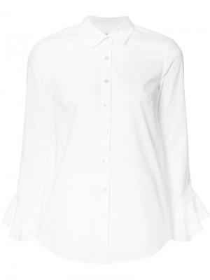 Рубашка с оборчатыми рукавами Suno. Цвет: белый