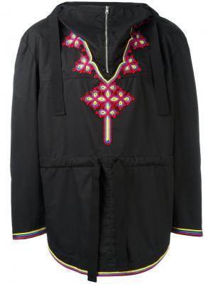 Анорак с вышивкой Stella McCartney. Цвет: чёрный