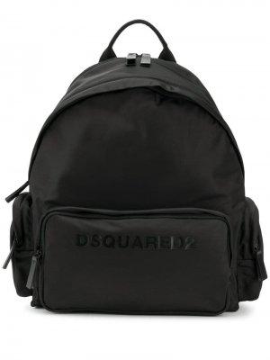 Рюкзак с логотипом Dsquared2. Цвет: черный