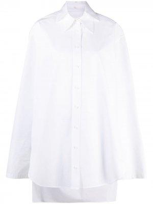 Многослойная рубашка оверсайз Krizia. Цвет: белый