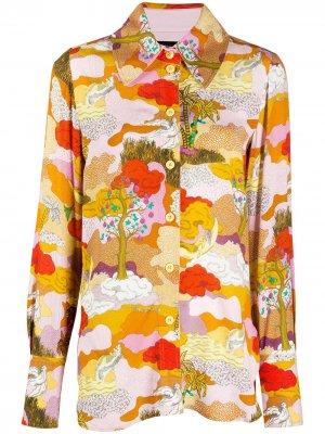 Рубашка Dreamscape Stine Goya. Цвет: оранжевый