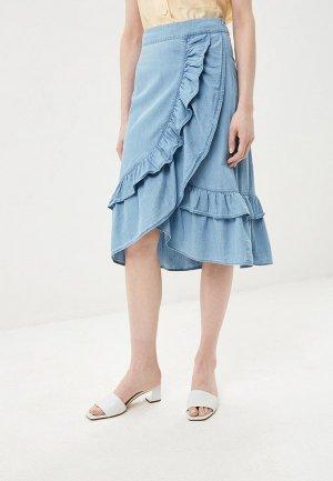 Юбка джинсовая Baon. Цвет: голубой