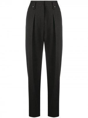 Зауженные брюки с завышенной талией Luisa Cerano. Цвет: серый