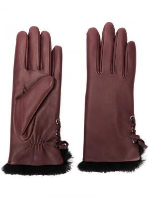 Перчатки Aliette Agnelle. Цвет: красный