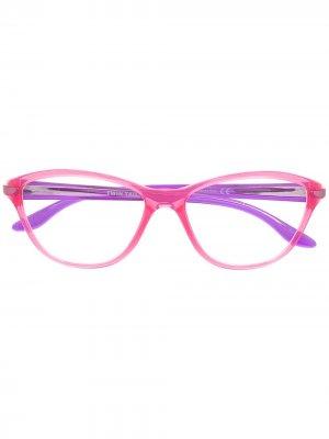 Очки Twin Tail Oakley. Цвет: розовый