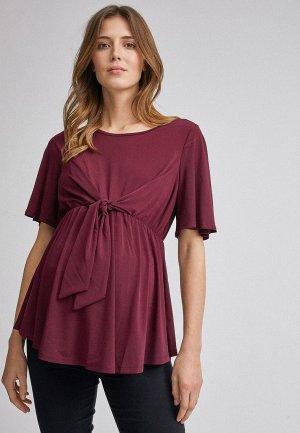 Блуза Dorothy Perkins Maternity. Цвет: бордовый