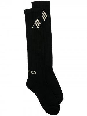 Носки в рубчик с логотипом The Attico. Цвет: черный