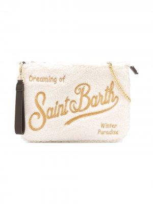 Сумка на плечо с блестящим логотипом Mc2 Saint Barth Kids. Цвет: нейтральные цвета