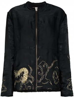 Куртка-бомбер с вышивкой By Walid. Цвет: черный