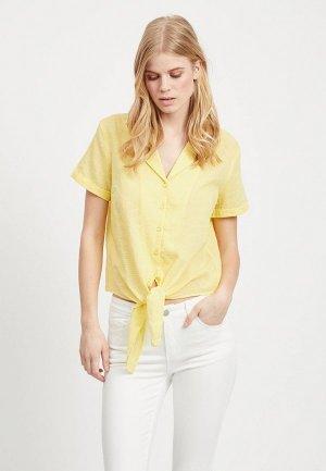 Блуза Vila. Цвет: желтый