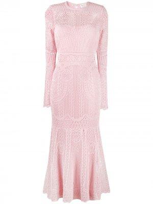 Вязаное платье Alexander McQueen. Цвет: розовый