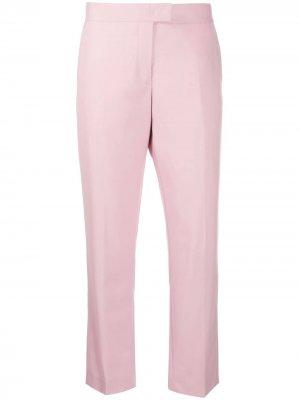 Укороченные брюки прямого кроя PS Paul Smith. Цвет: розовый