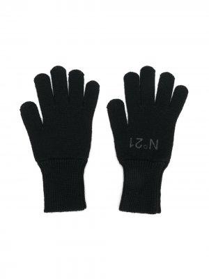 Перчатки с логотипом Nº21 Kids. Цвет: черный