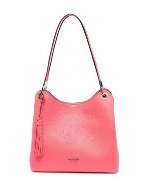 Большая сумка-тоут Loop с логотипом Kate Spade. Цвет: розовый