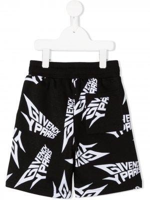 Шорты с логотипом Givenchy Kids. Цвет: черный