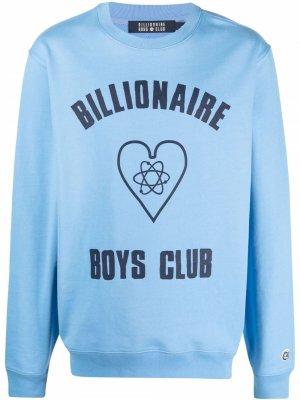 Толстовка с логотипом Billionaire Boys Club. Цвет: синий
