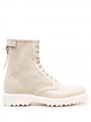 Ботинки со шнуровкой и перфорацией Woolrich. Цвет: нейтральные цвета