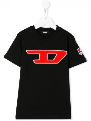 Футболка с логотипом D Diesel Kids. Цвет: черный