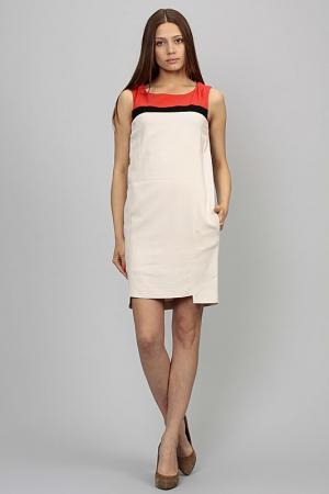 Платье Atos Lombardini. Цвет: молочный