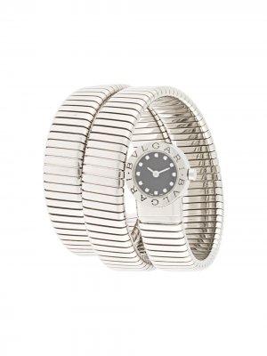 Наручные часы Tubogas pre-owned 20 мм 2000-х годов Bvlgari. Цвет: серебристый