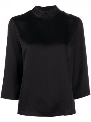 Блузка Charline с высоким воротником Semicouture. Цвет: черный