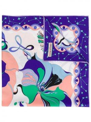 Шейный платок с принтом Emilio Pucci. Цвет: розовый